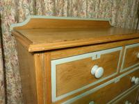 Victorian Stripped Pine Chest of Drawers Sage Painted Trim (7 of 8)