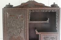 Antique Japanese Carved Wood Tabletop Cabinet c.1900 (11 of 15)