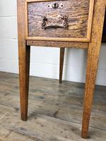 Edwardian Antique Oak Kneehole Desk (7 of 13)