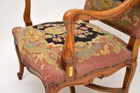 Pair of Antique Carolean Style Needlepoint Armchairs (8 of 12)