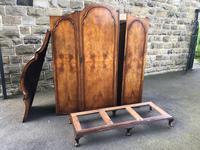Antique Figured Walnut Triple Wardrobe (13 of 13)