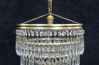 Italian Art Deco Five Tier Crystal Glass Chandelier (4 of 7)
