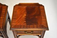 Pair of Antique Chippendale Style Mahogany Bedside Tables (5 of 12)
