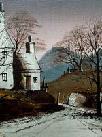 Ronald Folland Original Signed Winter Hamlet Landscape Oil Painting (7 of 12)