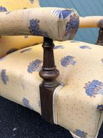 English Walnut Upholstered Armchair for recovering (2 of 8)