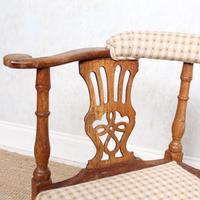 Georgian Corner Elbow Chair Beech (6 of 10)