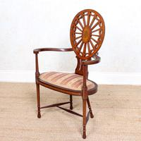 Antique Edwardian Armchair Inlaid Mahogany (4 of 10)