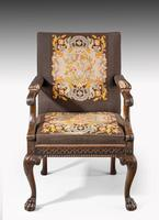 Well Carved Mahogany Framed Gainsborough Type Chair (2 of 6)