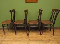 Four Antique Polish Thonet Style Bentwood Bistro Chairs with Pressed Seats (19 of 22)