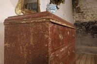 18th Century Gustavian Original Painted Commode - Red (13 of 15)
