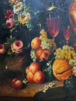 Old Master Revival - Large Original Antique Dutch Still Life of Flowers & Fruit (6 of 12)
