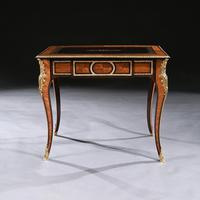 French 19th Century Gilt-Bronze Mounted Writing Table of Fine Quality (3 of 11)