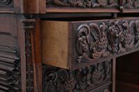 19th Century Carved Oak Partners Desk (8 of 17)