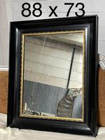 French Ebonised 19th Century Wall Mirror (2 of 16)