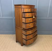Flame Mahogany Bow Fronted Chest on Chest (10 of 14)