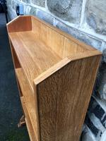 Antique Light Oak Open Bookcase (3 of 10)
