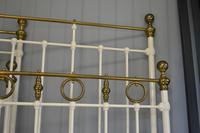 Matching Pair of Victorian Beds, 3ft Single Brass & Iron Bedsteads (10 of 12)