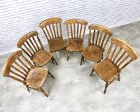 Matched Set of 6 Late Victorian Windsor Kitchen Chairs (3 of 5)
