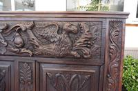 Country Oak Carved Settle Depicting Phoenix 1750 (11 of 13)
