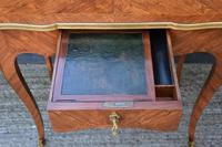 Exceptional Quality 19th Century French Kingwood Writing Table/ Lamp Table/ Centre Table. (13 of 15)