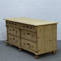 Antique pine sideboard with a bank of 6 drawers (5 of 5)