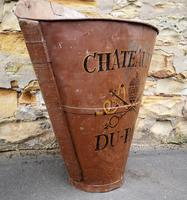 Chateauneuf Du Pape French Galvanised Metal Grape Pickers Hod / Bucket (4 of 6)