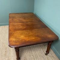 Large Stunning  Victorian Figured Mahogany Antique Wind Out Dining Table (3 of 9)