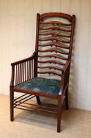 Arts And Crafts Mahogany Ladder Back Armchair (2 of 10)