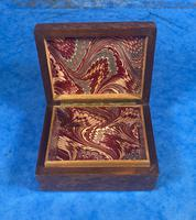 1920s Burr Cedar Box Edged in Mother of Pearl (8 of 9)