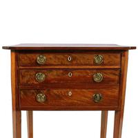 Georgian Mahogany Two Drawer Lamp Table (7 of 8)