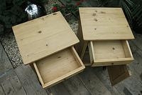 Beautiful & Unusual Old Pine Bedside Cabinets / Cupboards - We Deliver! (6 of 10)
