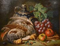 """Oil Painting Pair by Charles Thomas Bale """"Fruit and Game Larder Scenes"""" (3 of 10)"""