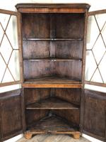 Antique Early 19th Century Oak Standing Corner Cupboard (5 of 7)