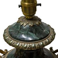 Pair of Green Marble Gilt Metal Mounted Table Lamps 19th Century (7 of 7)