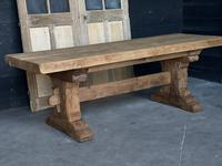 Superb Rustic Large Bleached Oak Farmhouse Table with Extensions (21 of 36)