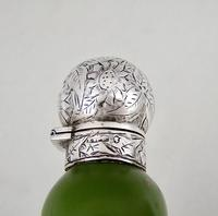 Fabulous Victorian Aesthetic Movement Silver & Opaline Gilt Glass Scent Bottle by Hewett & Co, Birmingham 1884 (6 of 7)