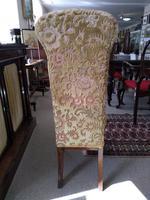 Victorian Mahogany  Upholstered Prayer Chair (3 of 8)