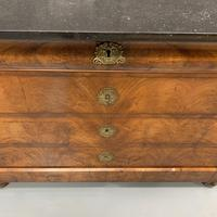 Figured Walnut and Marble Top Commode (8 of 13)