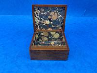 1920s Burr Cedar Box with Engraved Mother of Pearl Panel to the Top of a Cathedral (4 of 8)