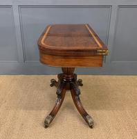 Regency Period Inlaid Rosewood Card Table (2 of 20)