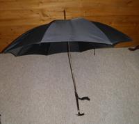 Victorian Hallmarked 1897 Silver Derby Handled Black Canopy Umbrella (12 of 14)