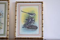 Set of Three Early 20th Century Silk Bird Paintings (5 of 10)