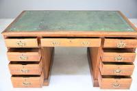 Antique Oak Edwardian Desk (7 of 12)