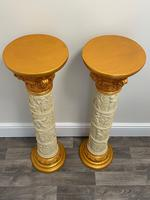 Dutch Golden Age Style Gilt Harvest Relief Plinth Display Torcheres (53 of 87)