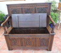 Country Oak Cottage Settle 1820 (7 of 10)