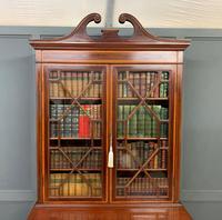 Edwardian Inlaid Mahogany Secretaire Bookcase (16 of 21)
