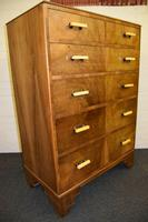 Lovely Walnut Art Deco Chest of Drawers (11 of 11)