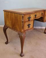 Antique Serpentine Shaped Burr Walnut Side Table (7 of 13)