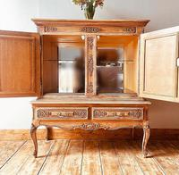 French Antique Style Cabinet / Louis XV / Cupboard / Sideboard / Drinks Cabinet (7 of 7)