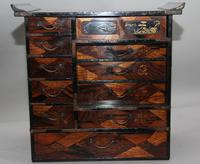 19th Century Japanese parquetry and lacquered cabinet (2 of 11)